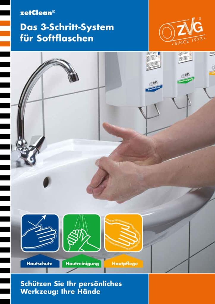 zetClean® Hautschutz, Hautreinigung, Hautpflege, 3-Schritt-System