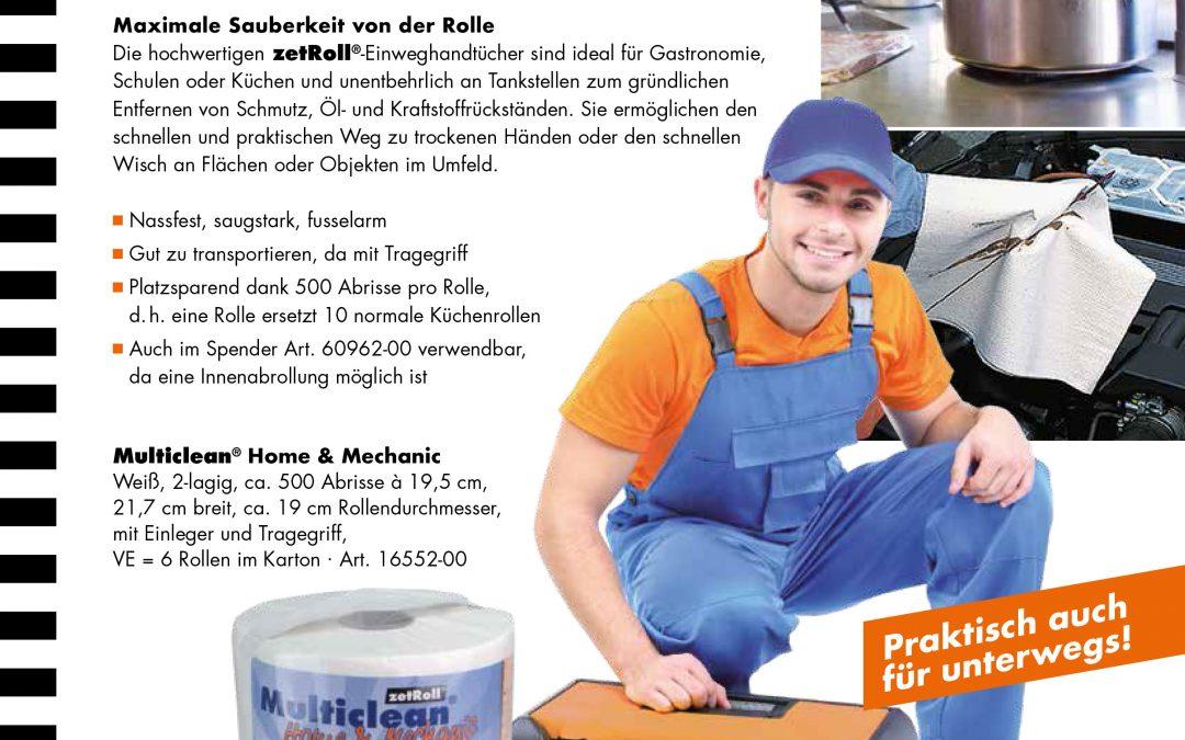 Multiclean Home & Mechanic – praktische Papiertuchrolle