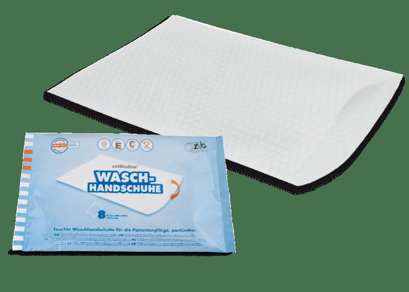 Feuchte Waschhandschuhe