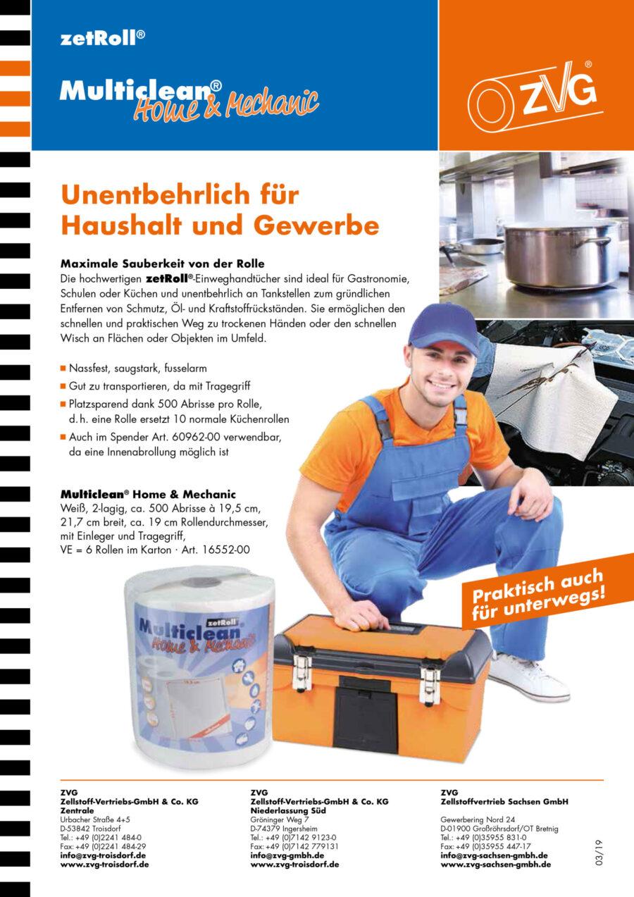 Multiclean Home & Mechanic - praktische Papiertuchrolle