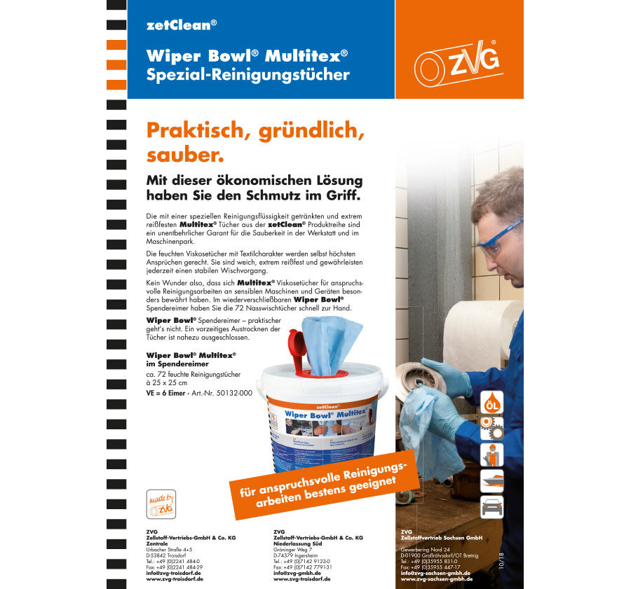 Wiper Bowl® Multitex® Spezialreinigungstücher