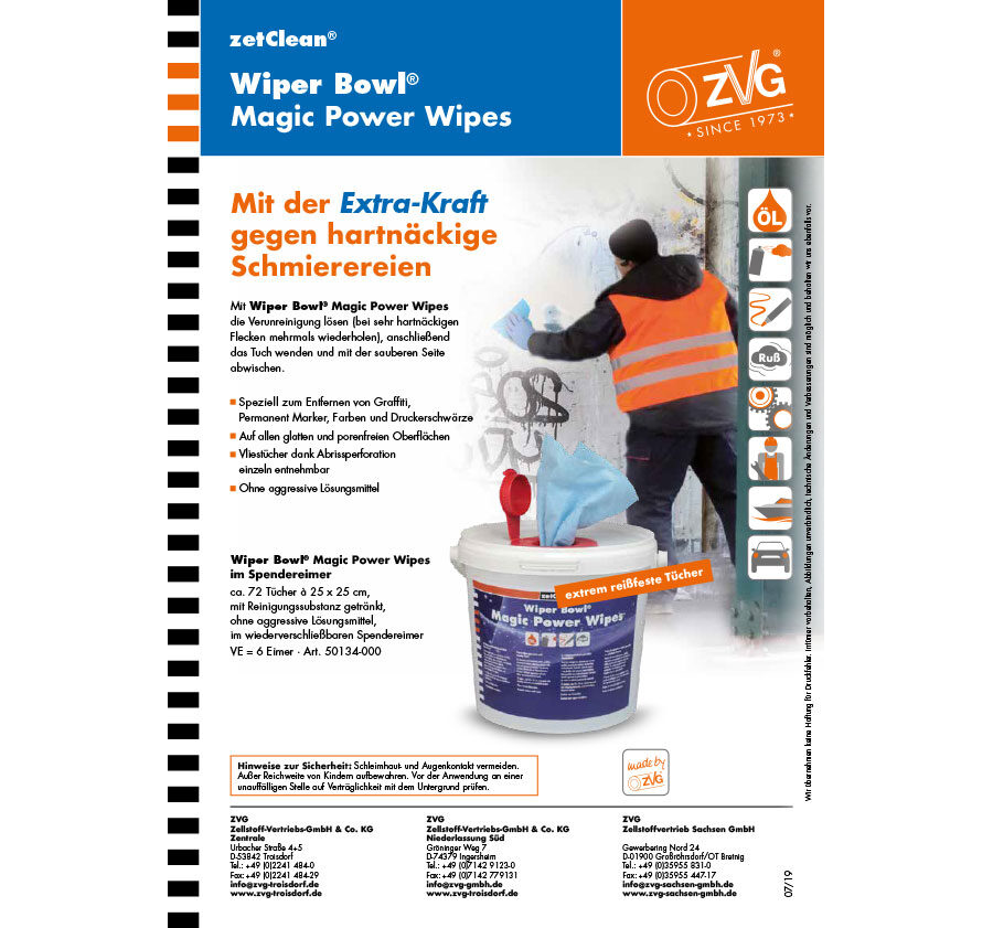 Wiper Bowl® Magic Power Wipes